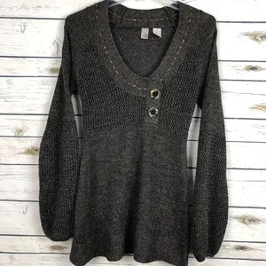 BKE large crochet long shirt sweater dress